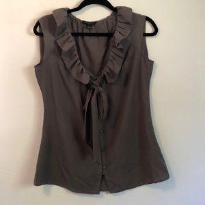 Banana Republic sleeveless olive blouse